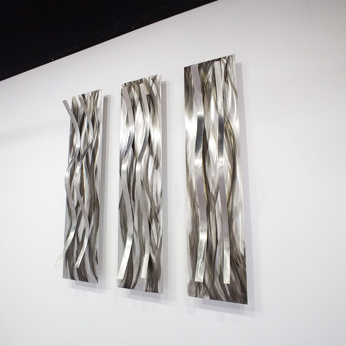 Gray Metal Wall Sculpture